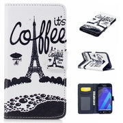 Cake Girl Butterfly Lace Cover For Samsung Galaxy A3 2017 Hoesje Flip PU Wallet Leather Case A320FL Coque Etui Kryty Husa Tok