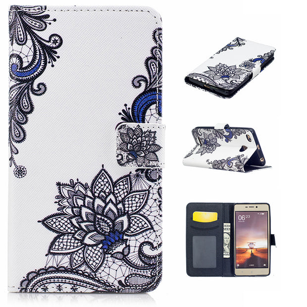 Cake Girl Butterfly Lace Cover For Xiaomi Redmi 3s Coque Wallet Flip PU Leather Funda Redmi 3 Pro/prime Case Etui Kryt Husa Tok