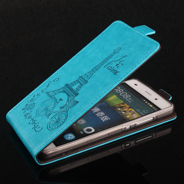 Card Holder Coque PTU Silicone Leather Case For HUAWEI P8 Lite Flip Cover For HUAWEI P8 Lite Wallet Covers Phone Cellphone Cases