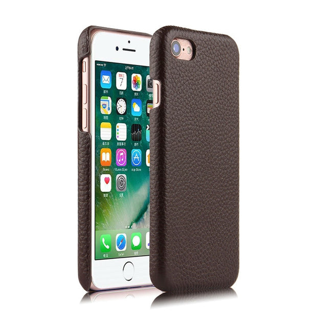 "Case Cowhide Cover For Apple IPhone 8 Protective Shell Phone Covers For Apple8 Iphone8 4.7"" Protector Genuine Leather Back Cases"
