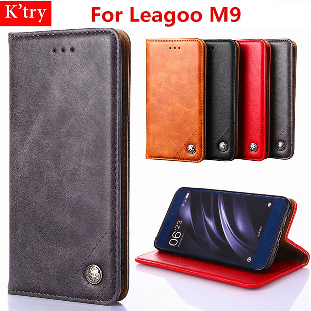 Case For Leagoo M9 Book Flip Protective Leather Wallet Cover Case For Leagoo M9 Leagoo M9 Stand Flip Bag Skin Fundas
