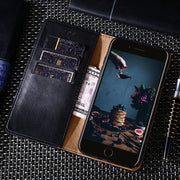 Case For Motorola Moto One P30 Play Pu Leather Phone Cases For Moto One Power P30 Note Business Triangle Line Wallet Case Coque