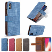Case For IPhone 8 7 6 6S Plus X Leather Flip Cover For IPhone 5 5S Se Case Phone Coque For IPhone X Xs MAX XR Shell Capa