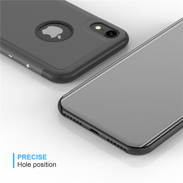 Case For IPhone Xs Max Cover Flip Stand Leather Phone Shell For IPhone XS Max Plating Mirror Cases For IPhone XS Max Coque Funda