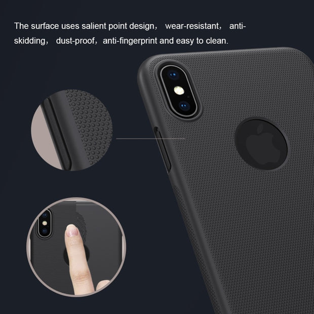 Case For Apple IPhone IPhone Xs Max Nillkin Super Frosted Shield Hard Back Cover Case Anti Skidding Case For IPhone Xs Max 6.5""