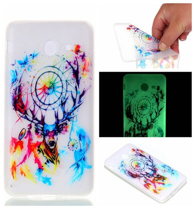 Case For Samsung Galaxy J5 2017 Luminous Illustration Printed Case Cute Cartoon Soft Back Cover Case For Samsung Galaxy J5 2016