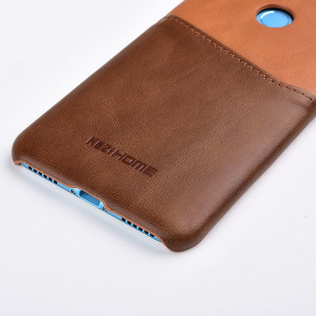 Case For Xiaomi Mi MIX 3 KEZiHOME Two Colors Genuine Leather Hard Back Cover For Xiaomi MIX 3 With Card Pocket