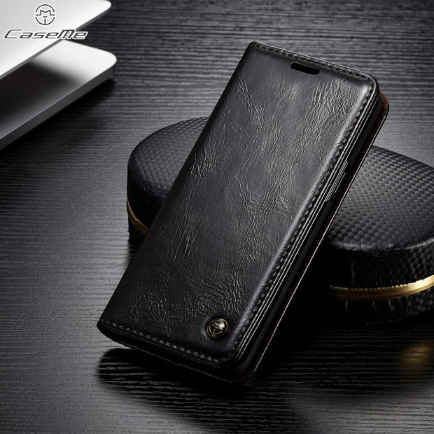 CaseMe SFor Samsung A6 A9 A8 A7 2018 Case For Samsung Galaxy A7 2018 A730 Magnet Flip Leather Wallet Holder Stand Phone Cover