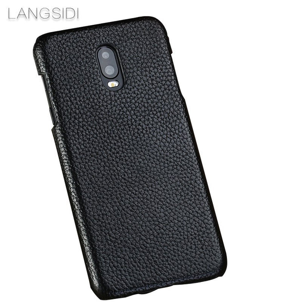 Cases For Samsung Galaxy S6 Phone Case Real Calf Leather Back Cover / Litchi Texture Case Genuine Leather Phone Case