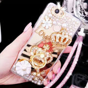 Cases For IPhone 6 6s Plus Queen Imperial Crown Diamonds For IPhone 7 8 Plus Princess Gemstone Gem Cases Back Cover