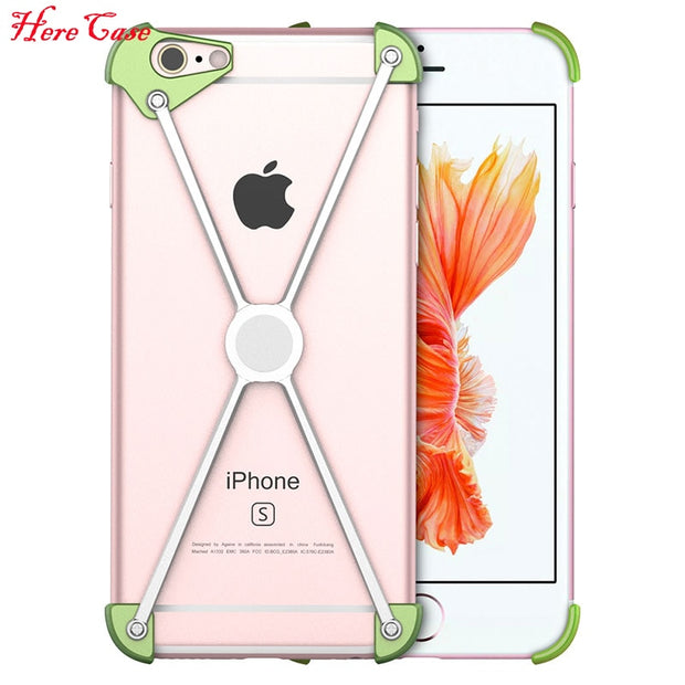 best website 410f5 527cd Cool X Metal Bumper For IPhone 6s Plus Case Magnetic Cover Aluminum Frame  Screw Secured For IPhone 6 Shockproof Phone Case