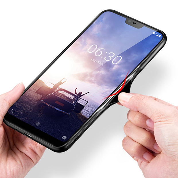 Coque For Nokia X6 2018 Case Luxury Tempered Glass + Soft Edge Cover 5.8'' For Nokia X 6 Glass Nokiax6 TA-1099 Cases Phone Shell