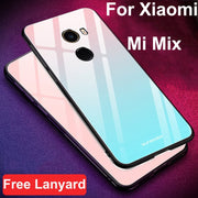 Coque For Xiaomi Mi Mix Case Gradient Tempered Glass + Soft Edge Cover 6.4'' For Mi Mix Dream Glass Case Mimix Cases Shell