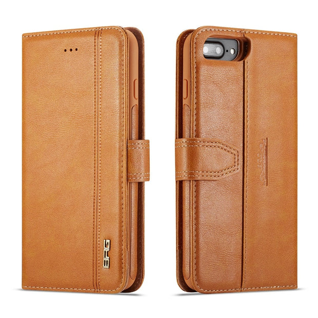 Coque For Apple Iphone 5 5s SE 7 8 6S 6 Plus X XR XS Max Luxury Wallet Leather Phone Cover Case 2 In 1 Fundas Cards Slots Holder