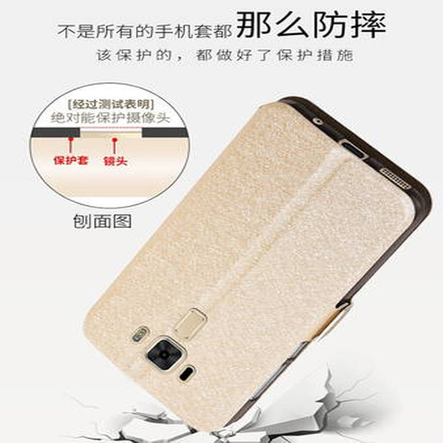 Coque For Asus Zenfone 3 Laser ZC551KL Case Back Cover Smart View TPU Leather Flip Case For Asus Zenfone3 Laser Case Shell