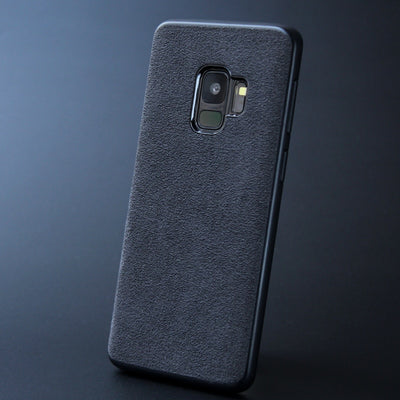 Cover For Samsung Galaxy S9 S8 Plus Note 8 9 Case Luxury Downy Italian Suede Like Fabric Capa Phone Shell For S 9+ 8+ Note8