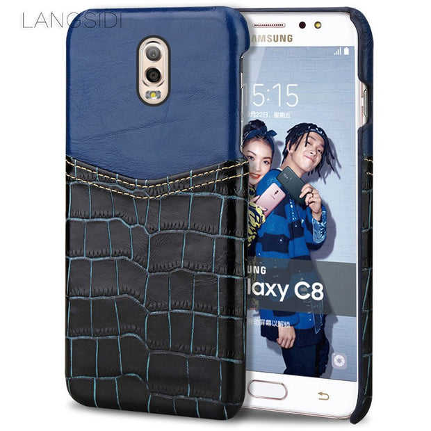 Cowhide Stitching For Samsung Galaxy S8 Case S8+plus S9 S9plus Note 8 Suitable For Men And Women Anti-fall Protection Cover