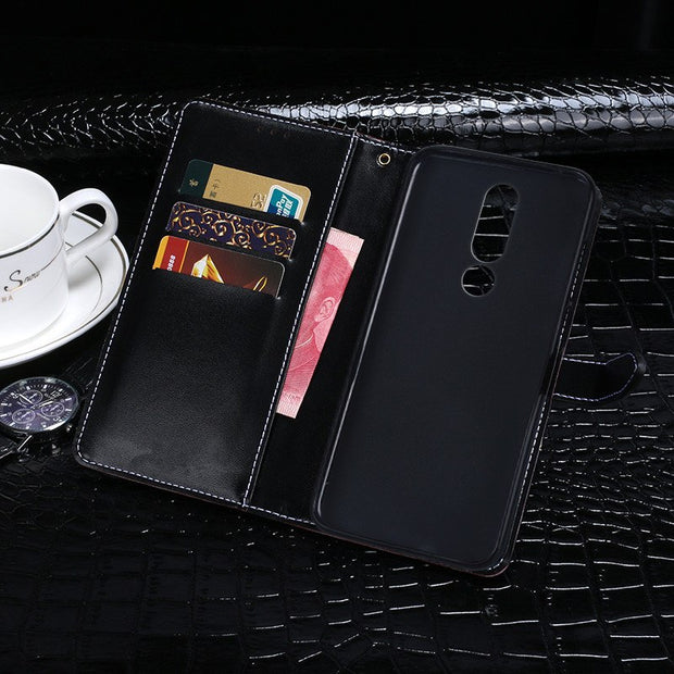 Crocodile Design Wallet Leather Cover For Nokia 5.1 Plus Case Filp Holster Skin For Nokia 5.1 Plus TA-1109 Business Style Case