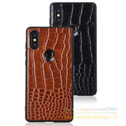 Crocodile Texture Totally Protection Leather Protective Back Cover Case For Xiaomi Mi Mix 2S Mix2s 5.99 Inch Luxury Phone Cover