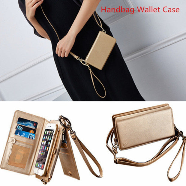 Crossbody Messenger Bag Zipper Wallet Case For IPhone X XR XS MAX 6S 7 8 Plus PU Leather Detachable XS Phone Cases Shoulder Bag