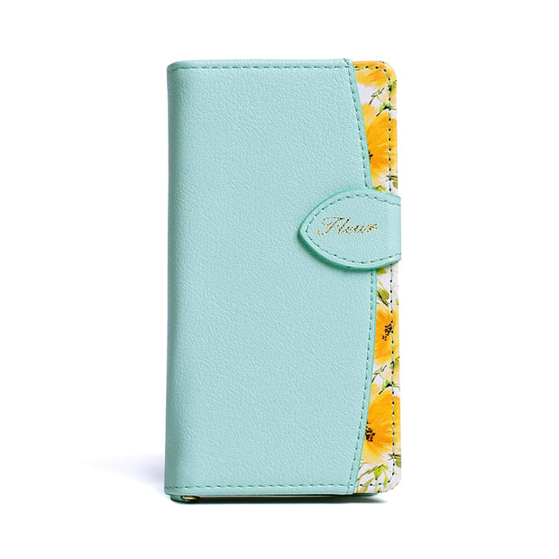 Cute Floral Leather Wallet Cases For Sony Xperia X XZ Compact X Performance Z5 Z6 Compact Case Flower Print Women Phone Bag Case
