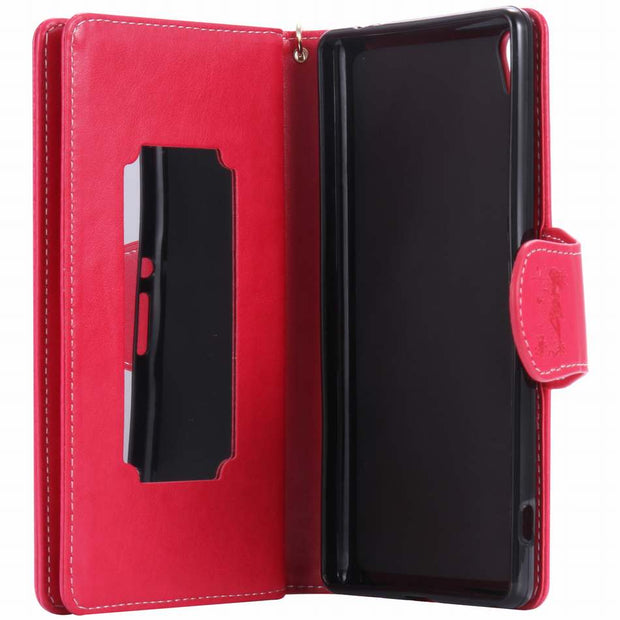 DEEVOLPO PU Leather Case For Sony Xperia Z5 Z3 X Performance XZ XA Ultra C6 Girl Lady 9 Card Slot Mirror Fashion Hand Bag DP09