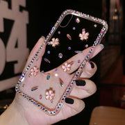 DIY Case For Iphone XS MAX 3D Cherry Blossoms Phone Cover For Iphone XR X Handmade Crystal Diamond For 8 7 6 6s Plus Girl Gift
