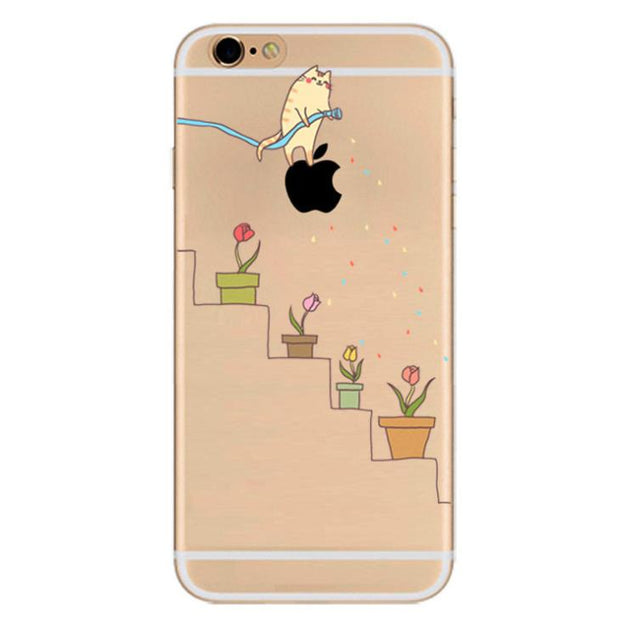 DOYAEL For IPhone 7 Plus Colorful Phone Case Soft Tpu Silicone Cover Printed Fundas Case Cute Animals Back Case