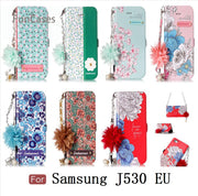 Daisy Case SFor Cellular Samsung J530 European Version PU Leather Bead Chain Luxury Samsung Galaxy J5 2017 EU Version J5 Pro