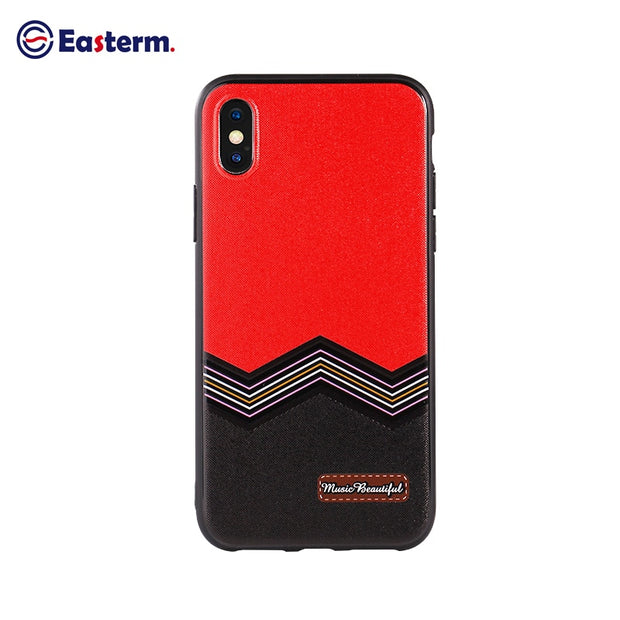 Easterm Luxury Back Case For IPhone 8 Phone Cases Rock Soft TPU PU Leather Phone Bag Cover All Round Protect Shell For IPhone X