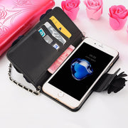 Elegance Luxury 3D Rose Flower Phone Case For Oppo R17 Pro R11s R11 R9s R9 Plus Rope Wattle Cover For Oppo P17pro R11plus R9plus