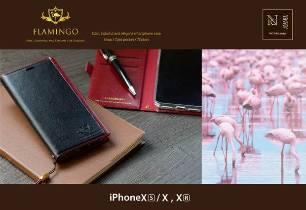Elegant Flamingo PU Leather Wallet Case For IPhone X XS XR XS Max Case Slim Business Phone Bag Magnetic Cards Holder Flip Cover