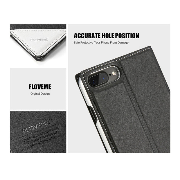 FLOVEME Leather Flip Case For Samsung Galaxy S8 S7 Edge Luxuxy Classic Phone Cases For Galaxy A5 Note8 S7 Edge Cover Coque Shell