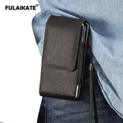 "FULAIKATE 5.5"" Litchi Clip Vertical Waist Bag For Samsung Galaxy S7 Edge S8 Universal Pouch For Xiaomi Redmi Note3 2 Holster"
