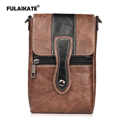 "FULAIKATE 6.3"" Contrast Color Bag For Huawei P10 Case Waist Pouch For Honor 6Plus Mate9 Universal Shoulder Portable Pocket"