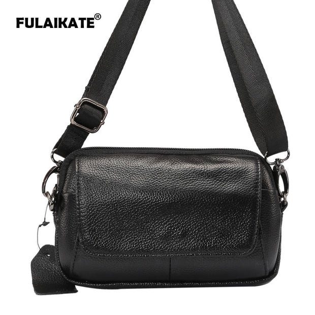 "FULAIKATE 6.5"" Genuine Leather Universal Shoulder Bag For IPhone 7 Plus Case Waist Pouch For IPhone 6s Plus Multifunction Bag"