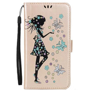 Fashion Case Cover For Sony Xperia Z3 Z5 Compact Cute Girl Printings PU Leather Stand Cover For Sony Xperia Z5 Premium Sony XZ