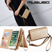 Fashion Girls Case For Iphone 7 Plus Musubo Brand Luxury Holster Flip Cover For Iphone 7Plus Wallet Cases Phone Bag Coque Card