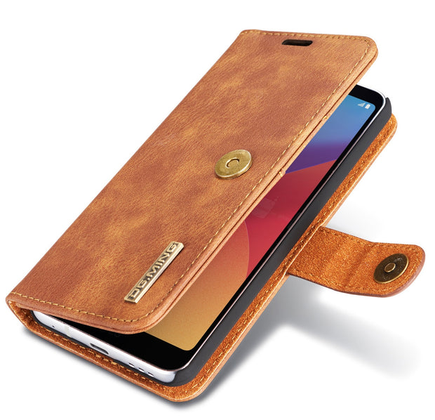 Fasthion Retro Leather Case For LG V20 V30 V30+ Magnetic Back Cover Shell  Button For LG G6 G7 ThinQ Flip Wallet Cover