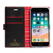 "Flip Push Up Rainbow Stripe Edge Business Wallet Case For Xiaomi Apple Samsung Nokia Huawei Universal Model 4.7-5.2"" Smartphones"