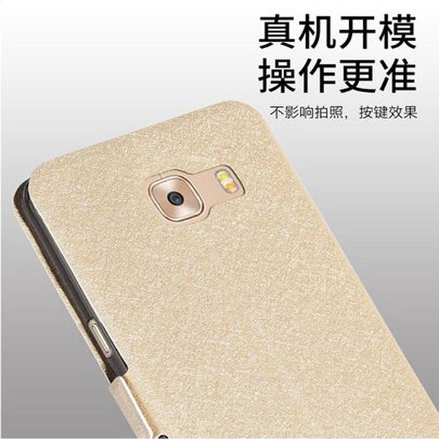 Flip Case For Samsung Galaxy C9Pro C9000 Mobile Phone Cover Case Shell Leather Back Cover For Samsung C9 Pro C9000 Case Shell