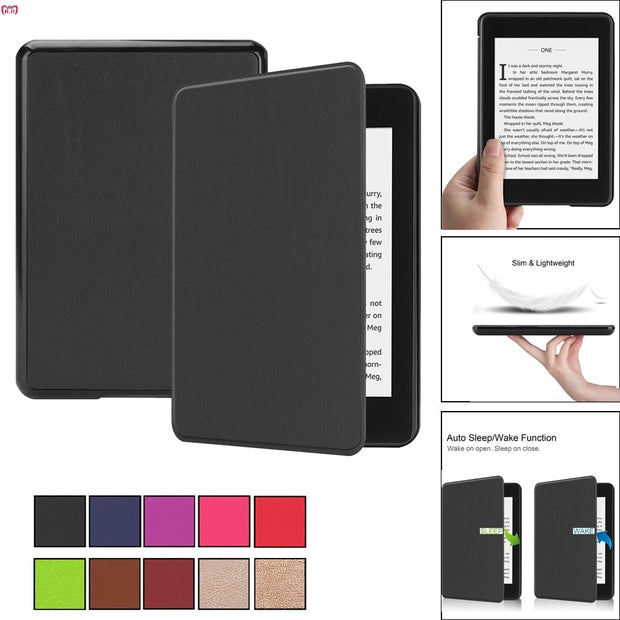 Folding Folio Case For New Kindle Paperwhite 4 2018 Smart Thin Leather Sleep Awake Flip Cover Cases Dropship Nov.6