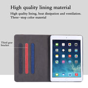 For Apple Pad Air 2/ Pad 6 Tablet Case Canvas Business PU Leather Auto Wake Up Smart Sleep Hand Belt Holder Stand Bags Covers