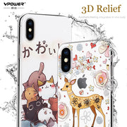 For Apple IPhone X Case Silicone Cover Fo IPhoneX Vpower 3D Stereo Relief Soft Funda Coque For IPhone X Case 5.8''