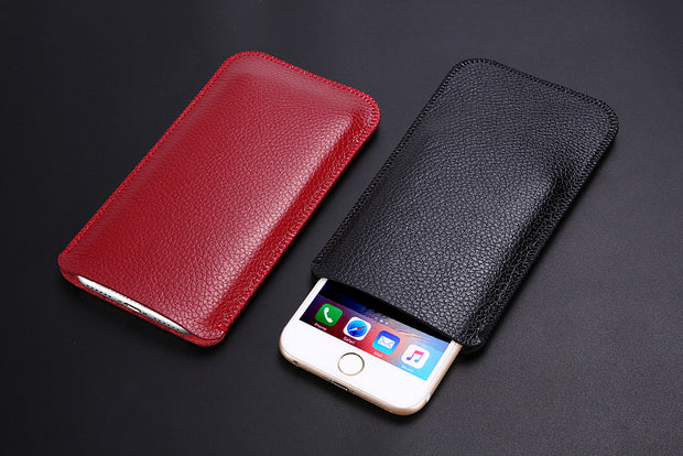 For Apple Iphone 8 Plus Ultra Thin Soft Litchi Microfiber Leather Sleeve Pouch Bag Phone Cover For Iphone 8 Plus Case