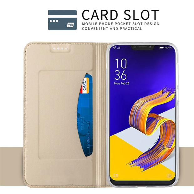 For Asus ZenFone 5z ZS620KL/Zenfone 5 ZE620KL Case Flip Cases For Asus ZenFone 5z ZS620KL Magnetic Case Stand Cover Wallet Case