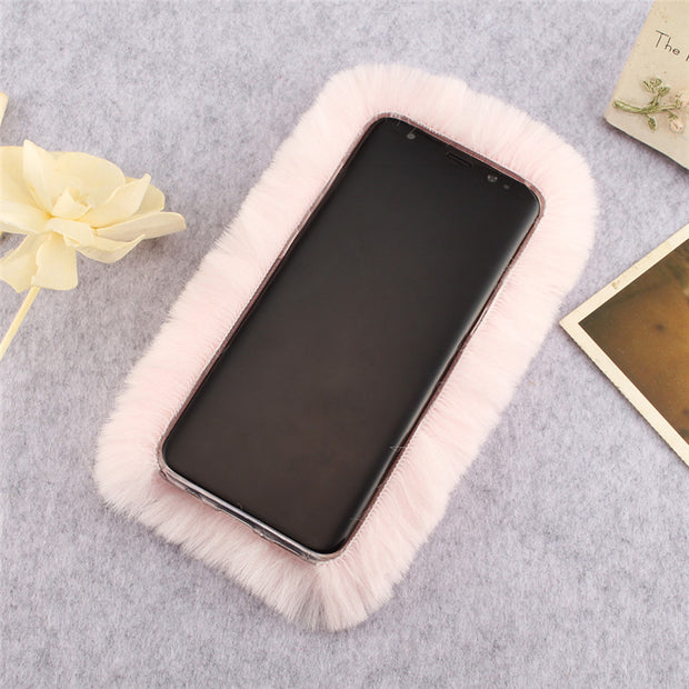 For Coque Samsung S8 Plus Cover Case On Samsung Galaxy S8 Cases Shel Luxury Back Silicone Anime Cute Pink White Soft Protection
