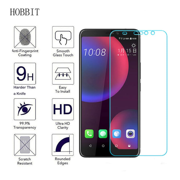 For HTC U11 Eyes Transparent TPU Back Cover Case 2PCS 9H 0.3MM 2.5D Clear Tempered Glass Screen Protector LCD Film For HTC Cases