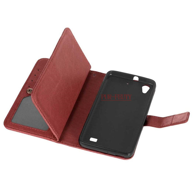 For Huawei Ascend G620s Honor 4 Play C8817D Case Flip Leather Phone Silicone Cover Huawei G 620s G620 S G620s-L01 S L02 L03 Case