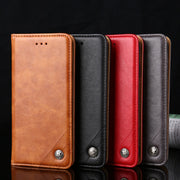 For Huawei Honor 9N 9 Lite 8 6 6plus Case Vintage Leather Wallet Flip Cover For Huawei Honor 9 Phone Bags Cases Without Magnets